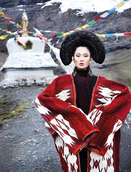Фотосессия на Тибете для Harper's Bazaar Indonesia, Фото для журналов, фото красивых моделей, фотографии людей