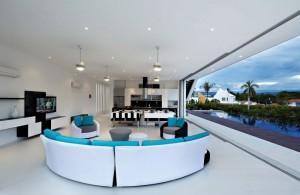 Белоснежный дом в Колумбийском Жирардо от GM Arquitectos