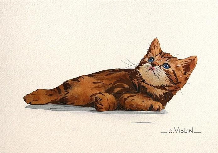 Акварельная живопись от Oliver Violin