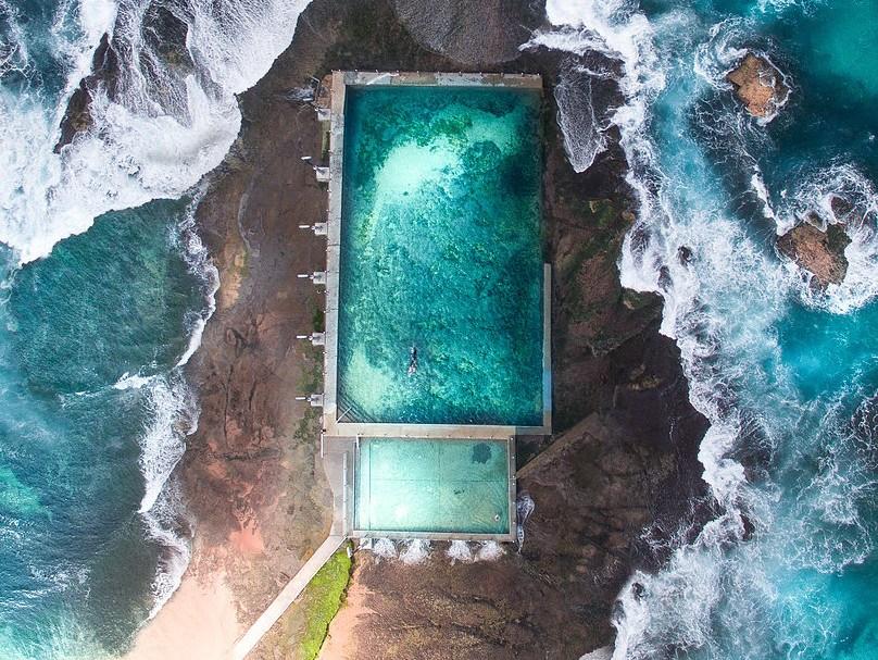 Красивые фотографии океана с дрона