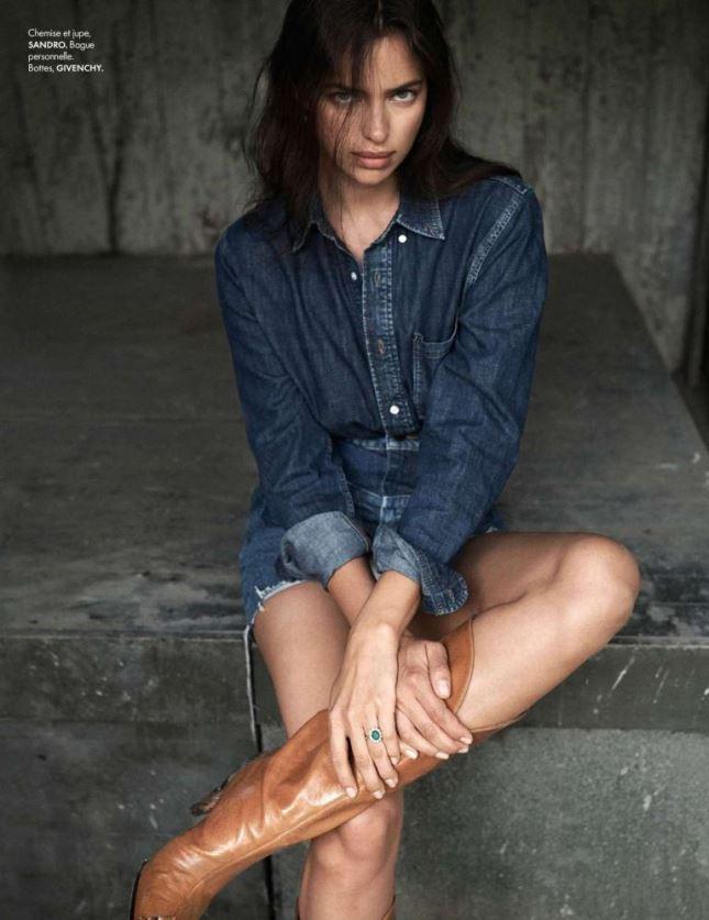 Девушка-ковбой: Ирина Шейк в фотосессии для ELLE France