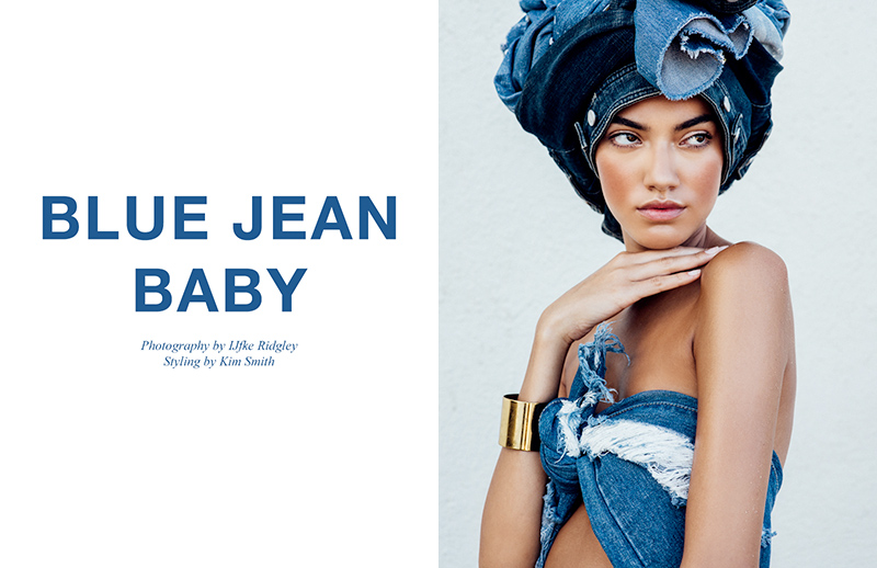 'BLUE JEAN BABY'. Джиновая фотосессия от IJfke Ridgley